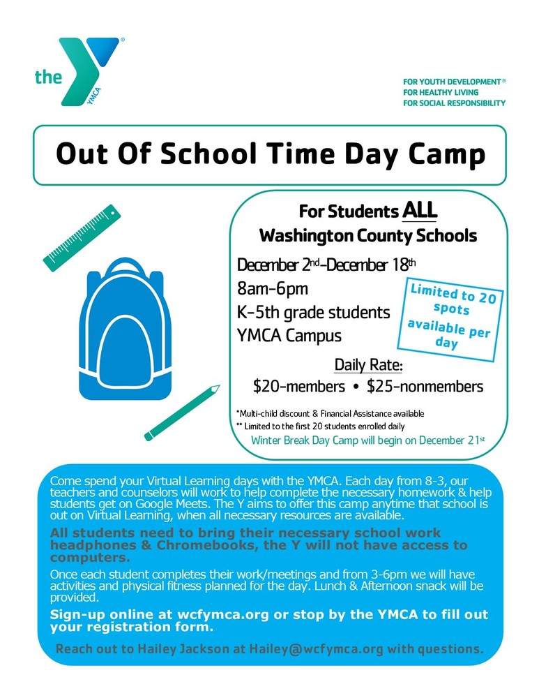 Out of School Time Day Camp-YMCA